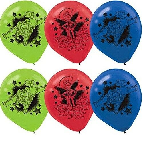 "Disney Toy Story Birthday 12"" Latex Balloons Party Supplies"