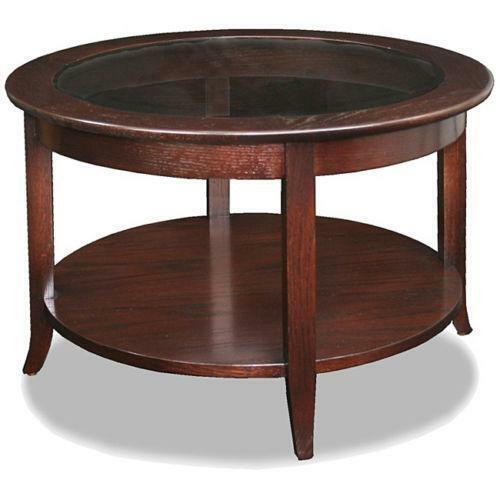 Modern round coffee table ebay for Coffee tables on ebay