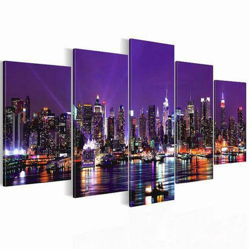 leinwand skyline bilder drucke ebay. Black Bedroom Furniture Sets. Home Design Ideas
