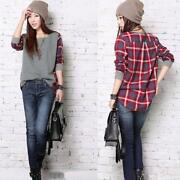 Womens Long Sleeved Checked Shirt