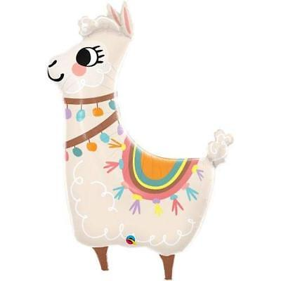 "Qualatex Cute Llama 45"" Supershape Foil Jumbo Birthday Party Balloon for sale  Covina"