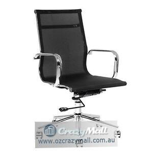 Chrome Frame & Mesh Computer Office Chair Melbourne CBD Melbourne City Preview
