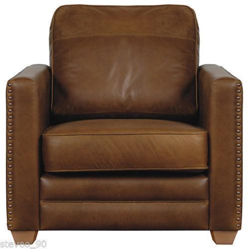 John Lewis Brown Leather Armchair Ebay