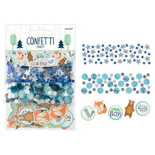 BABY SHOWER Bear-ly Wait CONFETTI VALUE PACK ~ Party Supplies Foil Decorations