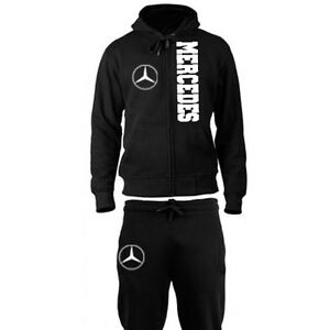 Ensemble survetement jogging embleme logo mercedes racing for Mercedes benz tracksuit