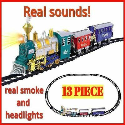 Train Set For kids Toddlers Boys Christmas Electric Toy Classic Real Smoke Gift