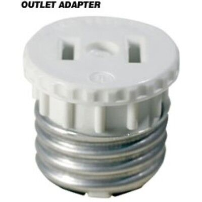 (Outlet to Medium Base Light Socket Adapter)
