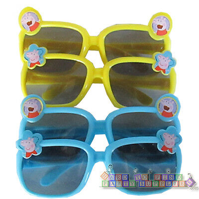 PEPPA PIG PLASTIC SUNGLASSES (4 pairs) ~ Birthday Party Supplies Novelty Favors (Peppa Birthday)