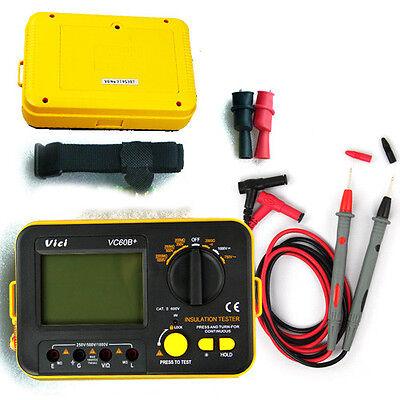 VC60B+ Digital Insulation Tester Megger MegOhm Meter DC250/500/1000V AC750V New