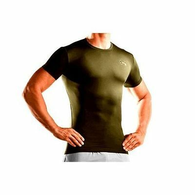 Under armour heat gear compression t shirt in army brown for Under armour brown t shirt