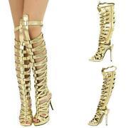 Gold Gladiator Heels