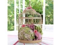 Large golden birdcage for wedding
