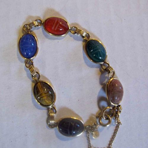 Vintage Scarab Bracelet Ebay