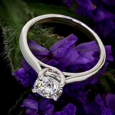 GIA Certified .70 Carat G/I1 Round Cut Diamond Engagement Ring White Gold 3
