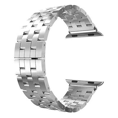 Stainless Steel Watch Band With Metal Clasp For Apple Iwa...