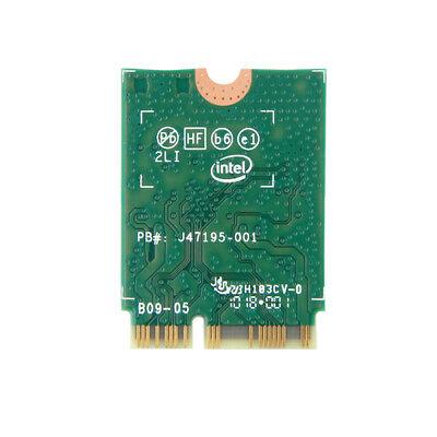 Intel Wireless 9560 802.11ac Dual Band Wi-Fi Bluetooth 5 MU-MIMO vPro160MHz Card