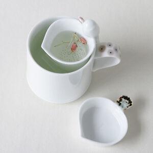 set de porcelaine blanche passoire tasse th collection infuseur soucoupe mug ebay. Black Bedroom Furniture Sets. Home Design Ideas