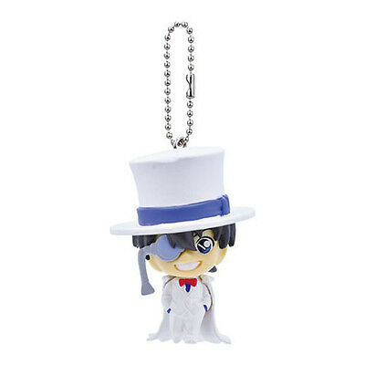 Detective Conan Kaito Kid Smiling Mascot Swing Key Chain Anime Manga NEW