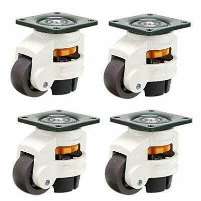 Machine Casters Leveling Retractable Workbench Caster 2200 Lbs 4 Pack By Skelang