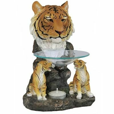 Duftlampe Aromalampe Tiger Afrika Wildlife Dekoration Tigerfiguren Esoterik Deko