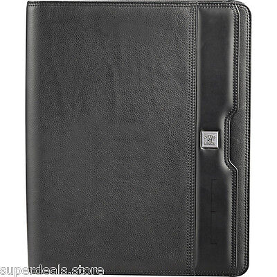Cutter Buck Performance Series Napa Leather Zippered Padfolio - Black
