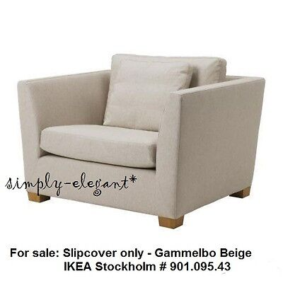 IKEA Cover for IKEA Stockholm Chair 1.5 seat Armchair Slipcover Gammelbo Beige  ()