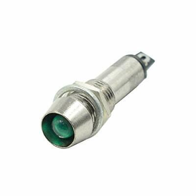 Mecion 5 Pcs LED Indicator Light Signal Lamp DC 24V Green Metal Shell Panel M...
