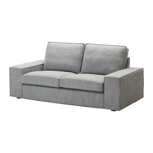Two new and assembled ikea  Kivik 2 seater sofas in Isunda grey. Somerton Park Holdfast Bay Preview