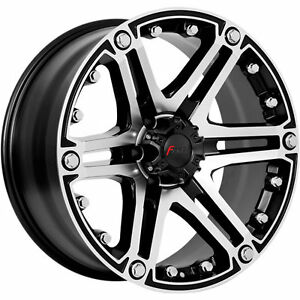 "New 20"" Forza 309 Blk or Blk Mach rims  20x9 -12 Ford F150"