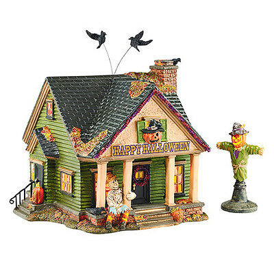 Dept 56 Snow Village Halloween New 2015 THE SCARECROW HOUSE Set/2 4044881 D56