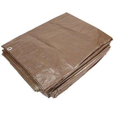 Sigman 30' x 30' Brown Economy Tarp - Camping Tarp - Roofing Tarp - Brand New