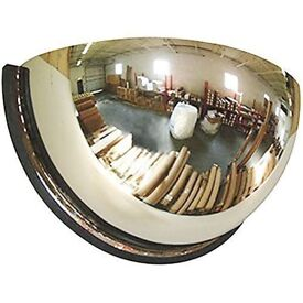 45cm Half Mirror which can be used as a security mirror.