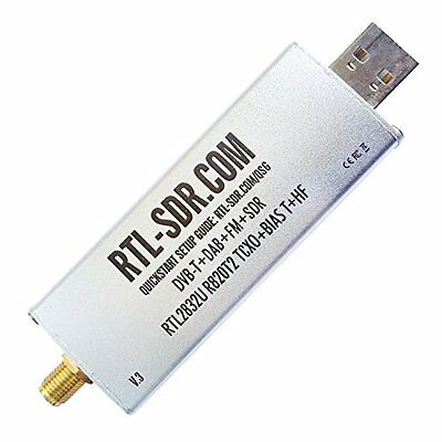 Rtl-Sdr R820t2 Rtl2832u Dvb-T Dab Fm Software Defined Radio Scanner Usb Dongle