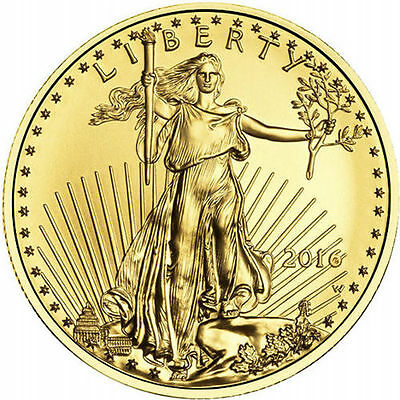 2016 1/2 Troy oz American Gold Eagle $25 Coin (BU)