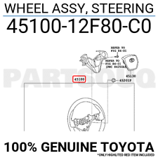 4510012F80C0 Genuine Toyota WHEEL ASSY, STEERING 45100