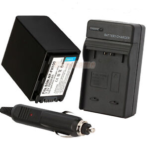 NP-FH100 NPFH100 Battery+Charger for SONY NP-FH60 NP-FH70