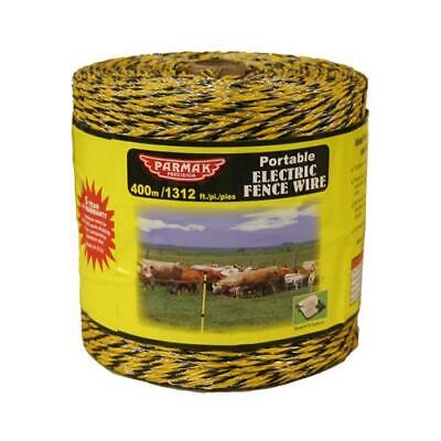 Electric Fence Wire Yellow Amp Black Aluminum 1312-ft. Spool
