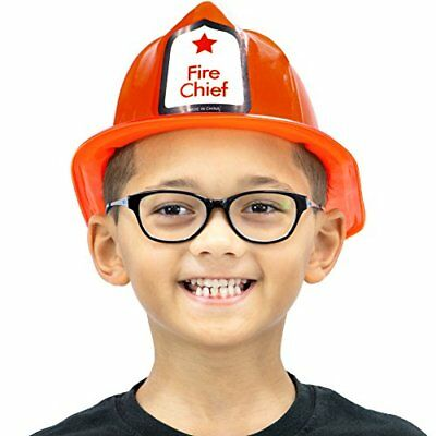 Fireman's Helmet Kid's Halloween Costume Hat Accessory - Dress Up Roleplay Red