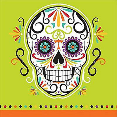 HALLOWEEN Sugar Skull Skelebrations SMALL NAPKINS (16) ~ Birthday Party - Sugar Skull Party Supplies
