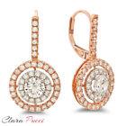D Multi-Tone Gold Fine Diamond Earrings