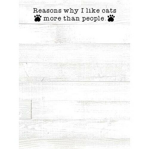 Reasons I Like Cats More Than People Mini Notepad