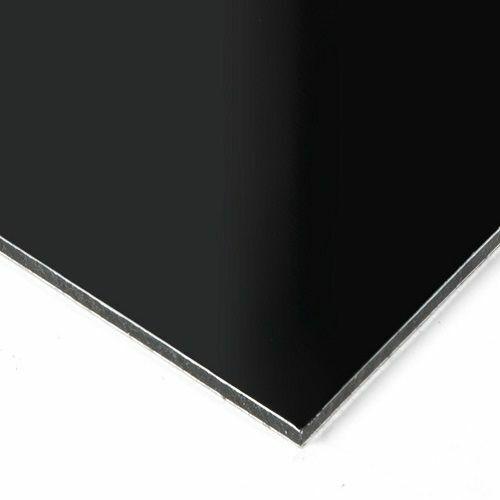 "Falken Design ACM Aluminum Composite sheet Black Matte, 12x36x1/8"" +FREE CUT"