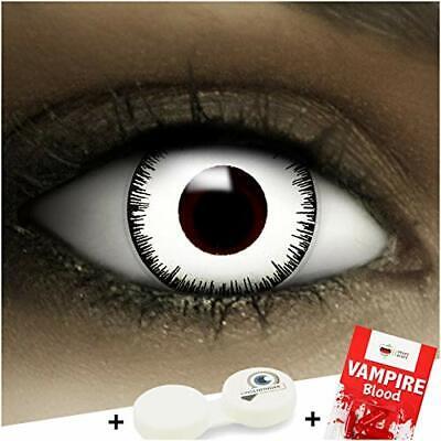 """Lenti a contatto colorate""""Vampiro"""" + capsule di sangue finto + portalenti per FX"""
