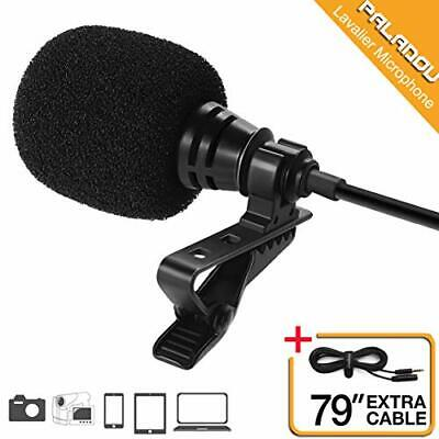 Lavalier Lapel Microphone 3.5mm Mic Pro Best for iPhone Android