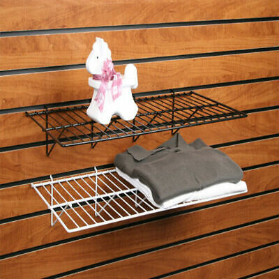 Slatwall Gridwall Pegboard Wire Shelf 12 X 24 Black Or White 6 Pack