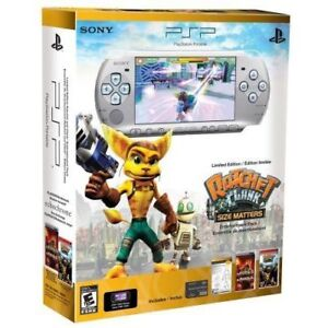 SONY PSP 3001 SILVER RATCHET AND CLANK EDITION 10+ GAMES