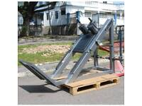 Cybex hack squat, commercial gym equipment