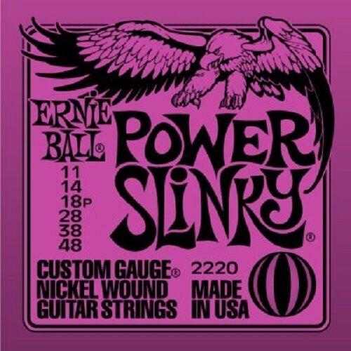 POWER SLINKY 2220 ERNIE BALL ELECTRIC GUITAR STRINGS SET 11-48 STRINGS