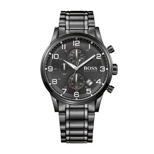 Mens Hugo Boss Aeroliner Chronograph Mens Black Watch - HB1513180