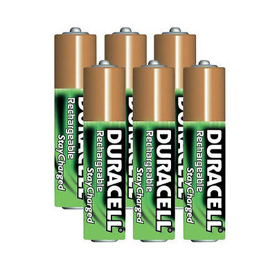 Duracell AAA 6-Pack Pre-Charged Rechargeable Stay Charged 800mAh AAA Batteries